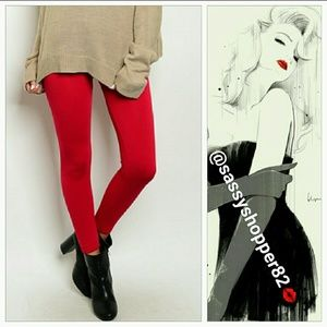 3.1 Phillip Lim for Target Pants - Winter warm lipstick red leggings