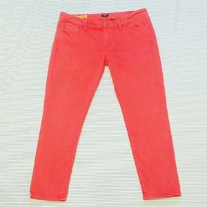 J Crew Toothpick Stretch in HOT Coral!