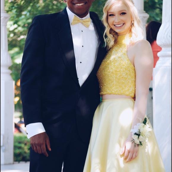 Sherri Hill Dresses & Skirts   Sherri Hill 2 Piece Yellow Prom Dress ...