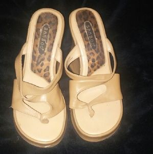 bamboo Shoes - Bamboo size 6.5 wedge sandles