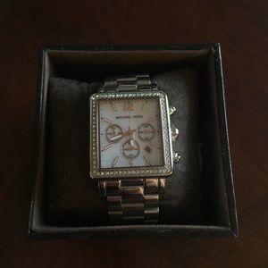Michael Kors Rectangular Chronograph Watch