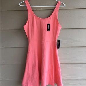 Express Dresses & Skirts - Orange fit-and-flare dress