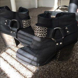 Jeffrey Campbell black booties