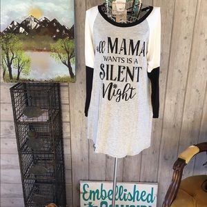 All mama wants is a silent night plus size top