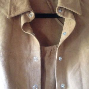 GAP Tops - NWOT GAP Genuine Suede Camisole and Shirt Set