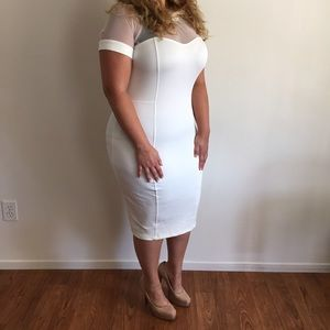 Dresses & Skirts - Classy White & Sheer Dress