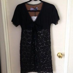 Vera Wang Lavender Label black cocktail dress