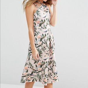 Asos structured midi dress