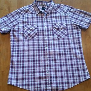 jf j.ferrar Other - Men's plaid short sleeved shirt