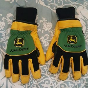 John Deere Accessories - Leather John Deere Gloves