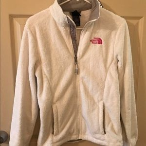White North Face Fleece Jacket Size Small