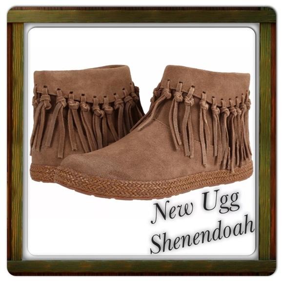 be113078e40 New UGG Shenendoah Fringe Bootie Dark Chestnut NWT