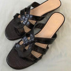 Alex Marie Shoes - Alex Marie Crocodile Leather Slide Slipon