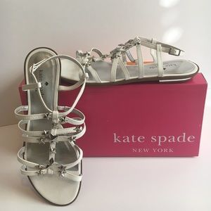 NWT KATE SPADE WHITE LEATHER BOMAIR STAR SANDALS