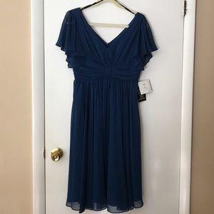 suzi chin Dresses & Skirts - Sapphire blue cocktail dress NWT