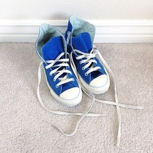 Converse Shoes - Converse All-Star blue high top sneakers size 7