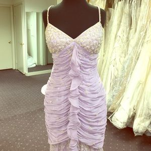 High -Low Lilac Gown