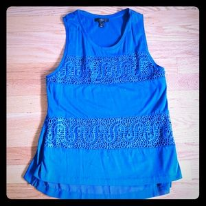 J Crew blue sleeveless top size small