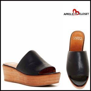 Franco Sarto Shoes - ❗1-HOUR SALE❗LEATHER PLATFORM SANDALS
