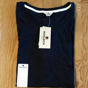 Black Super Comfy 100% Cotton Woolrich Tee