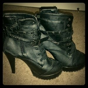 *Black Studded Ankle Boots!*