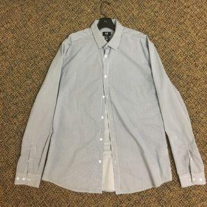 H&M men's slim fit striped dress shirt