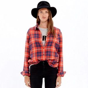 Madewell Cozy Shirt in Ember Plaid