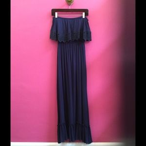 Misa Dresses & Skirts - Navy maxi dress