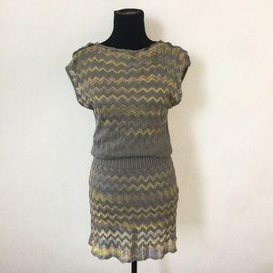 M by Missoni Dresses & Skirts - Gray and Yellow Zip Zag Missoni Knit Dress