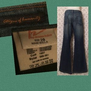Citizens of Humanity Denim - Citizen's, 29 Kate #066 stretch low waist full leg