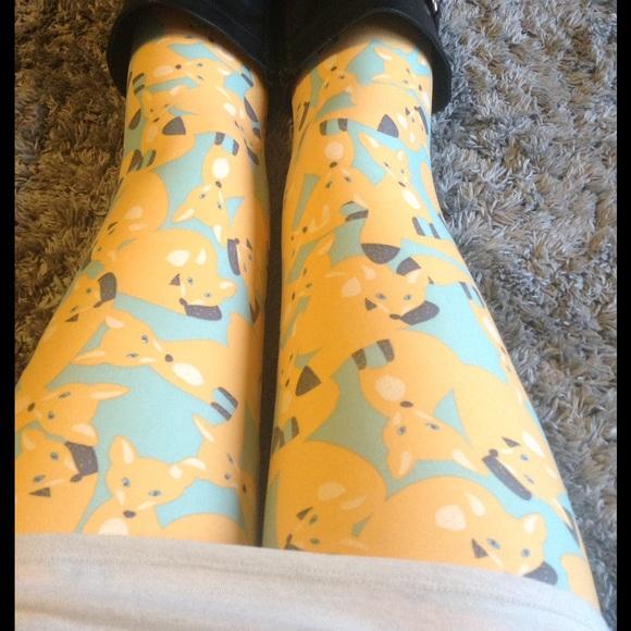 eaf273b1dd2ee8 LuLaRoe Pants | Os Fox Family Leggings Nwt | Poshmark