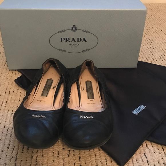 Classic Black Prada Ballet Flats | Poshmark