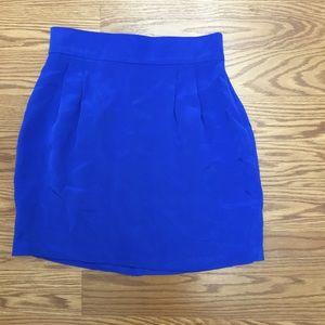 Naven Dresses & Skirts - Naven Electric Blue Silk Mini Skirt Size2 (like 0)