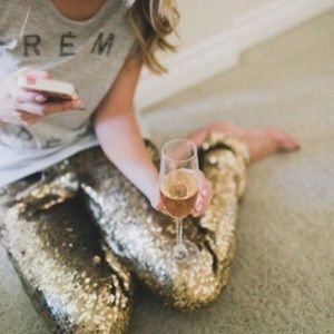 XX The BROOKLYN sequin leggings - RED