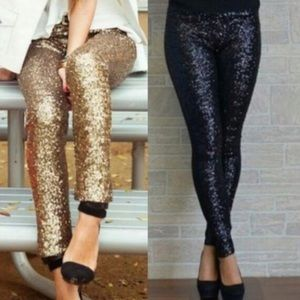 XX BROOKLYN sequin leggings - RED