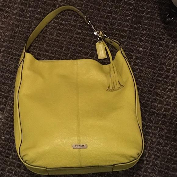 4ac660631e6b ... czech coach avery pebbled leather hobo shoulder bag 985b9 bf035