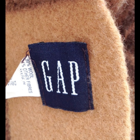 GAP Accessories - Gap brown and tan wool striped plaid scarf.