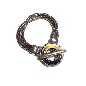 Ben-Amun Jewelry - Ben Amun Silver Bracelet with Toggle Closure
