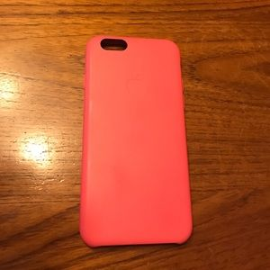Apple Accessories - Pink silicone Apple brand iPhone 6 case