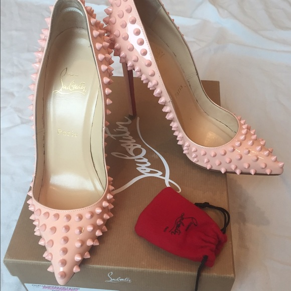 e267018ba94a Christian Louboutin Shoes - Christian Louboutin 37 baby pink pigalle spikes