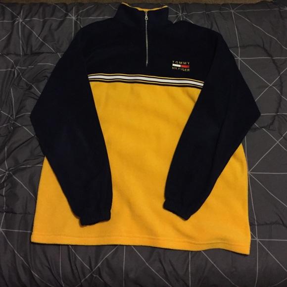 Vintage 14 Zip Tommy Hilfiger Fleece Pullover