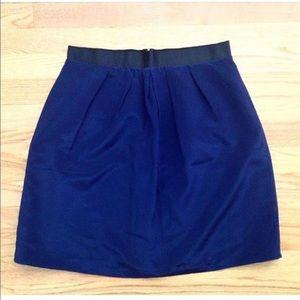 J. Crew Dresses & Skirts - J.Crew Navy Silk Skirt