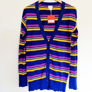 Mossimo Striped Button Up Cardigan