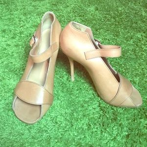 Celine Paris tan pumps