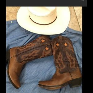 Durango Shoes - Durango Cowgirl Brown leather boots Sz 7