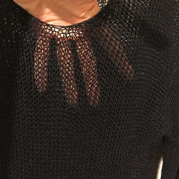 Sweaters - Black open knit sweater