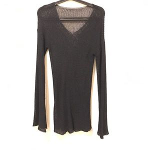 Sweaters - Black open knit sweater