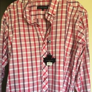 Jared Lang Other - NWT Mens Jared Lang Red Plaid Dress Shirt Large