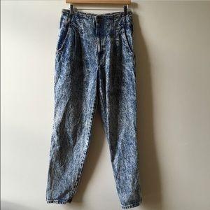 80s Vintage acid wash high waisted jeans