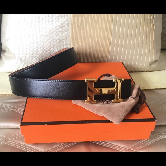 b425e1943d485 Hermes Accessories - Auth Hermes Constance Gold H Belt Kit 75